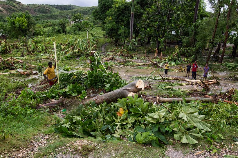 Hurricane Matthew in Haiti which caused over 600 deaths and US$2.7 billion of economic losses in Haiti in late 2016.