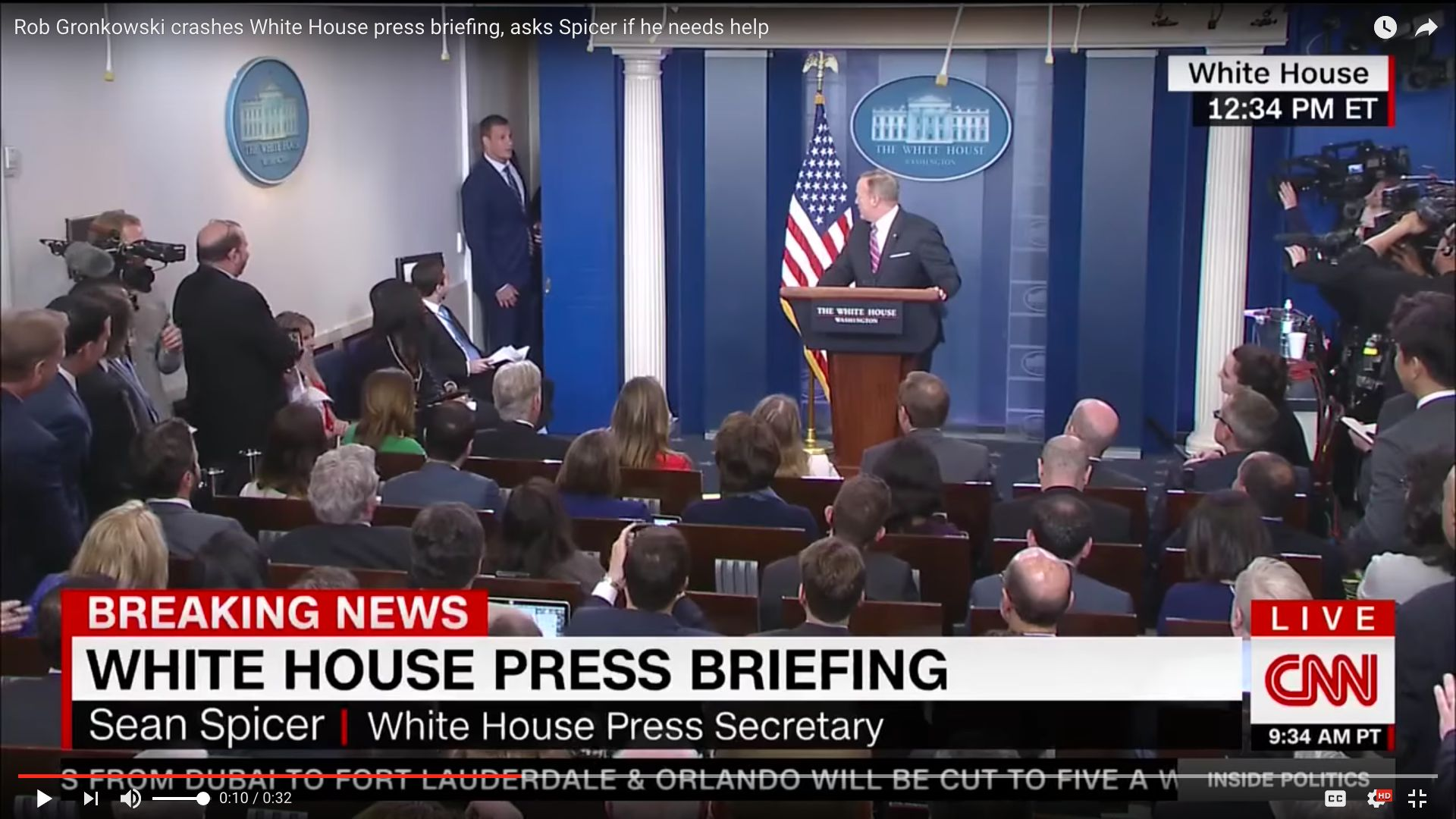 New England Patriots star Rob Gronkowski crashed Wednesday's White House press conference.