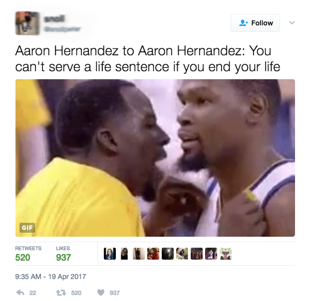 Joking About Aaron Hernandez's Death By Suicide Is NOT