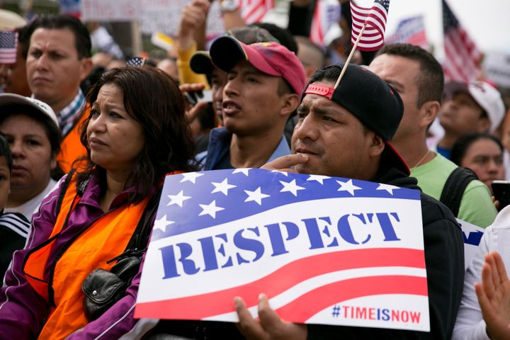 A rally in Washington in support of immigration reform on Oct. 8, 2013.