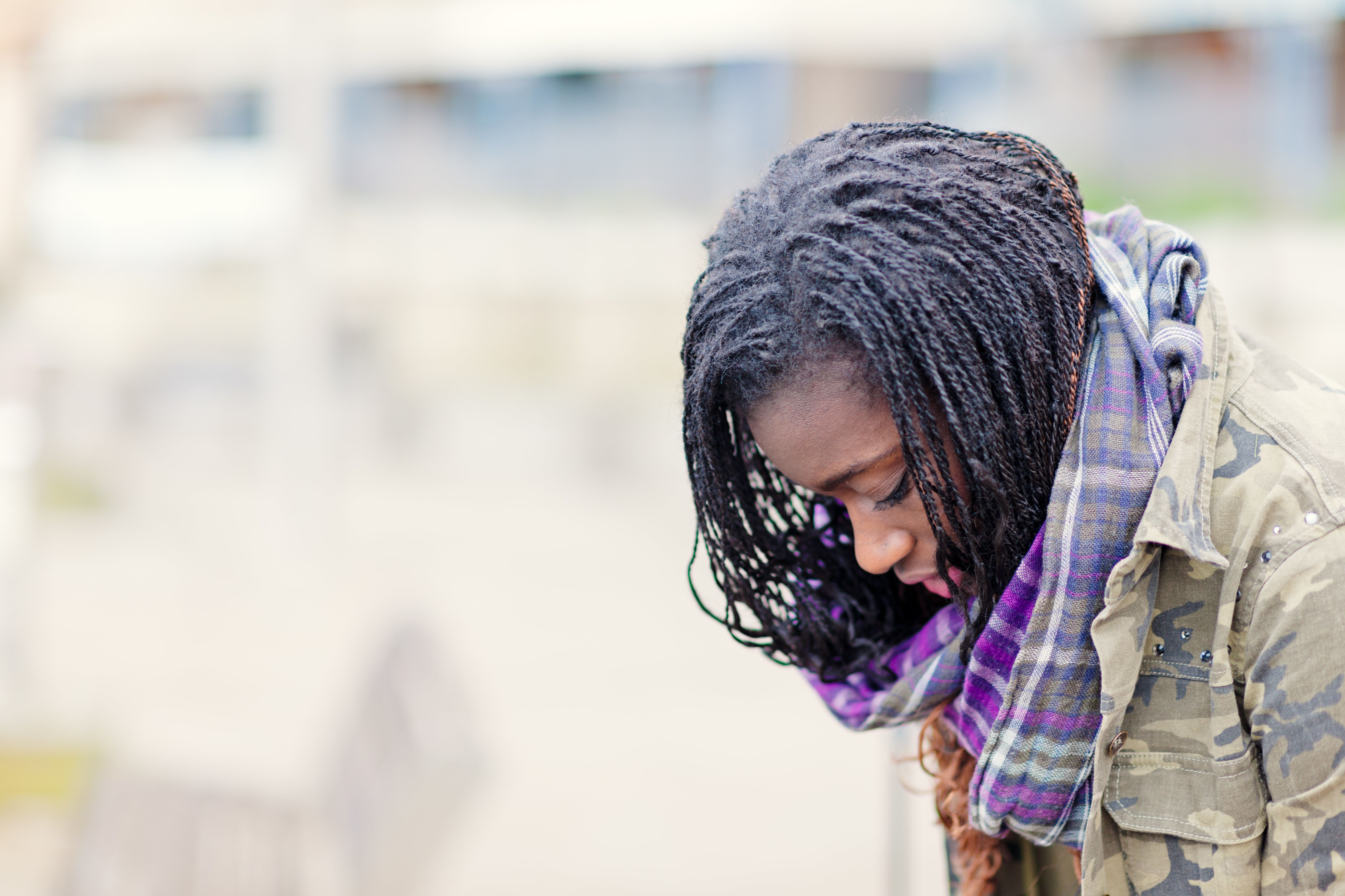 Young African pensive woman