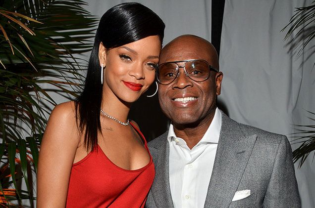 <strong>Rihanna</strong> with Former <strong>Def Jam</strong> CEO <strong>L.A. Reid</strong>