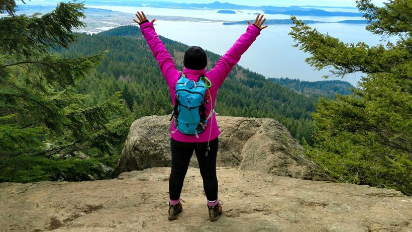 The summit of Chuckanut Mountain - Oyster Dome.