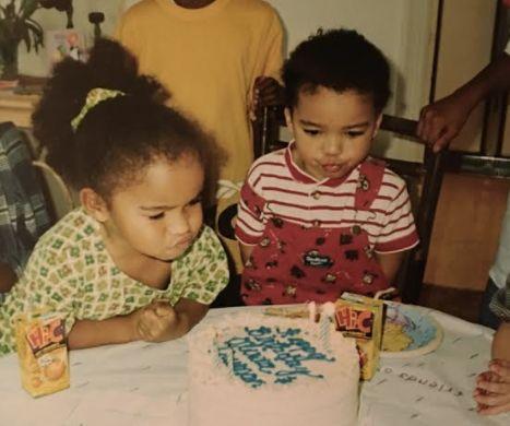 Truman y Olivia cuando eran
