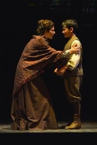 Kyra Miller and Jonah Broscow in a scene from<strong><em>Rags</em></strong>