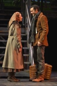 Julie Benko and Travis Leland in a scene from <strong><em>Rags</em></strong>