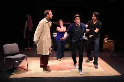 Cassidy Jamahl Brown, Patricia Austin, Alan Coyne, and Damien Seperiin a scene from<strong><em>Autobiography of aTerrorist