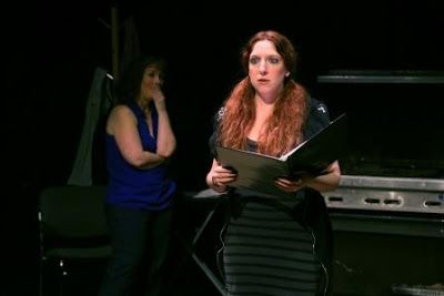 Jenna Apollonia as the Stage Manager in a scene from <strong><em>Autobiography of a Terrorist</em></strong>