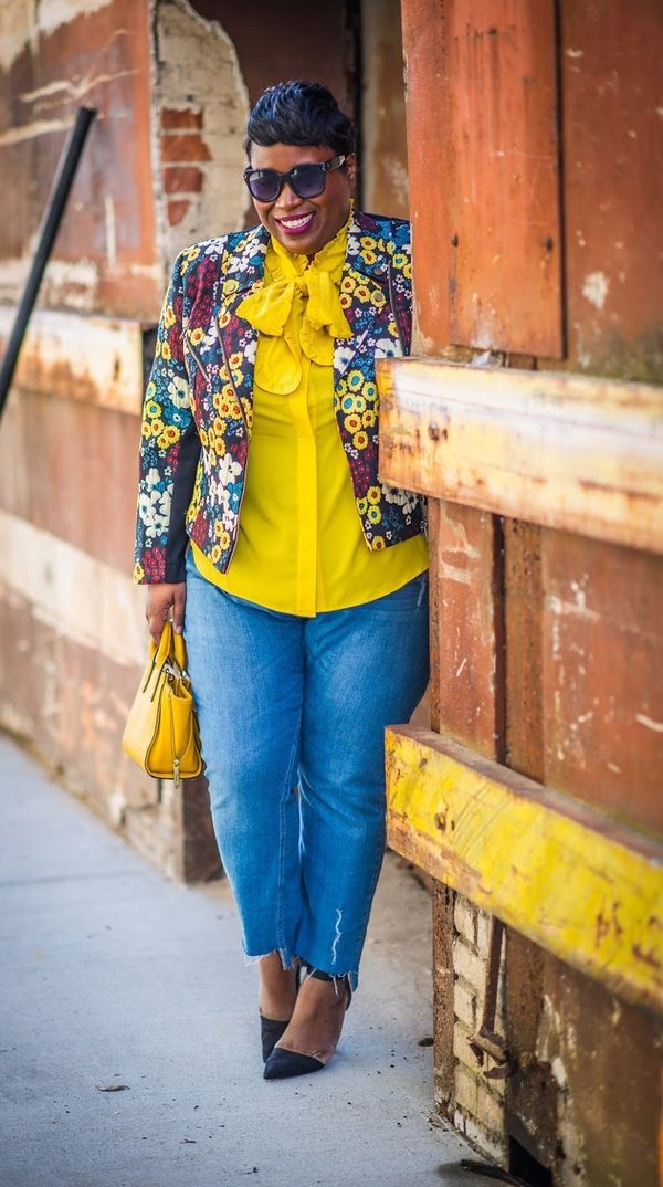 """""""Jeniese Hosey is easily the most stylish person I know. She doesn't allow plus-size 'fashion rules' deter"""