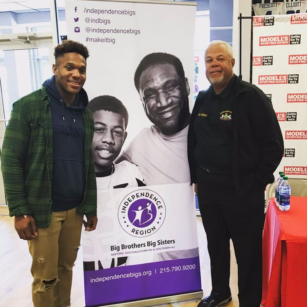 NFL player teams up with Big Brothers Big Sisters, politico