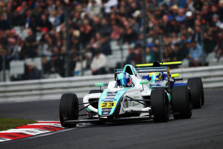 Billy drives during the F4 British Championships at Brands Hatch, in Longfield, on April 2