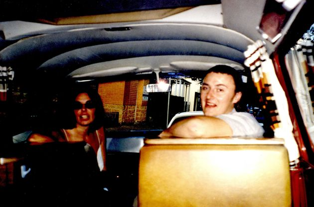Peter Falconio and his girlfriend Joanne Lees in the back of their camper