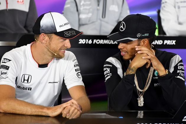 Jenson Button, left, has pledged his support for Billy as has Lewis