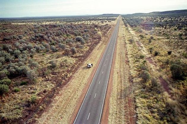 The Stuart Highway, where Falconio and Lees were stopped by