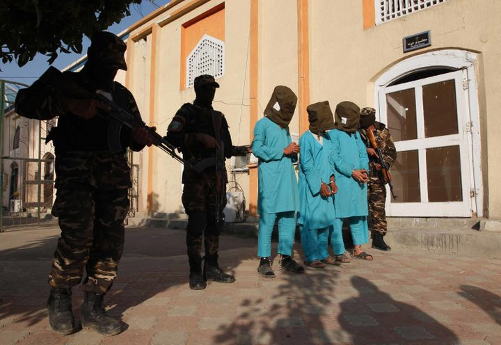 Suspected Taliban militants in Nangarhar province, Afghanistan, Dec. 20, 2016.