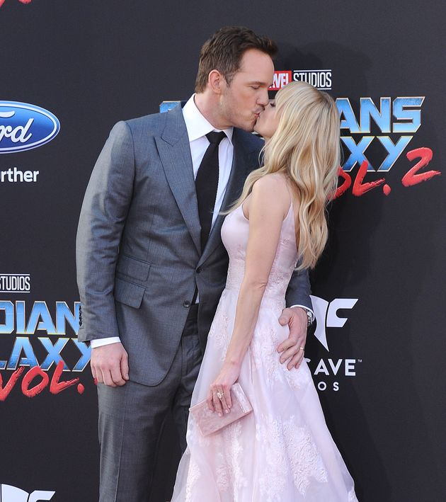 Chris Pratt and actress Anna Faris attend the premiere of