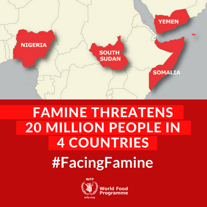 These are the countries in gravest danger of famine. Overall, 45 nations need emergency food assistance.