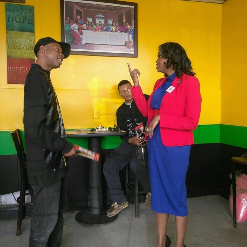 """Candidate discusses policy proposals with Detroit citizens — at <a rel=""""nofollow"""" href=""""https://www.facebook.com/CaribbeanCit"""