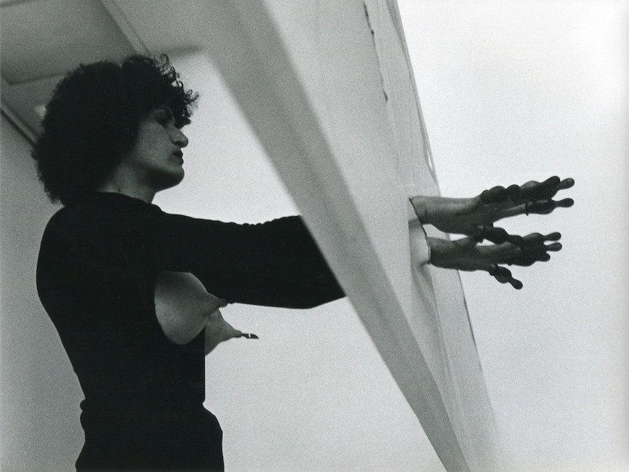 """Renate Bertlmann, """"Deflorazione in 14 Stazioni (Deflowering in 14 Stations)"""" Detail, 1977"""