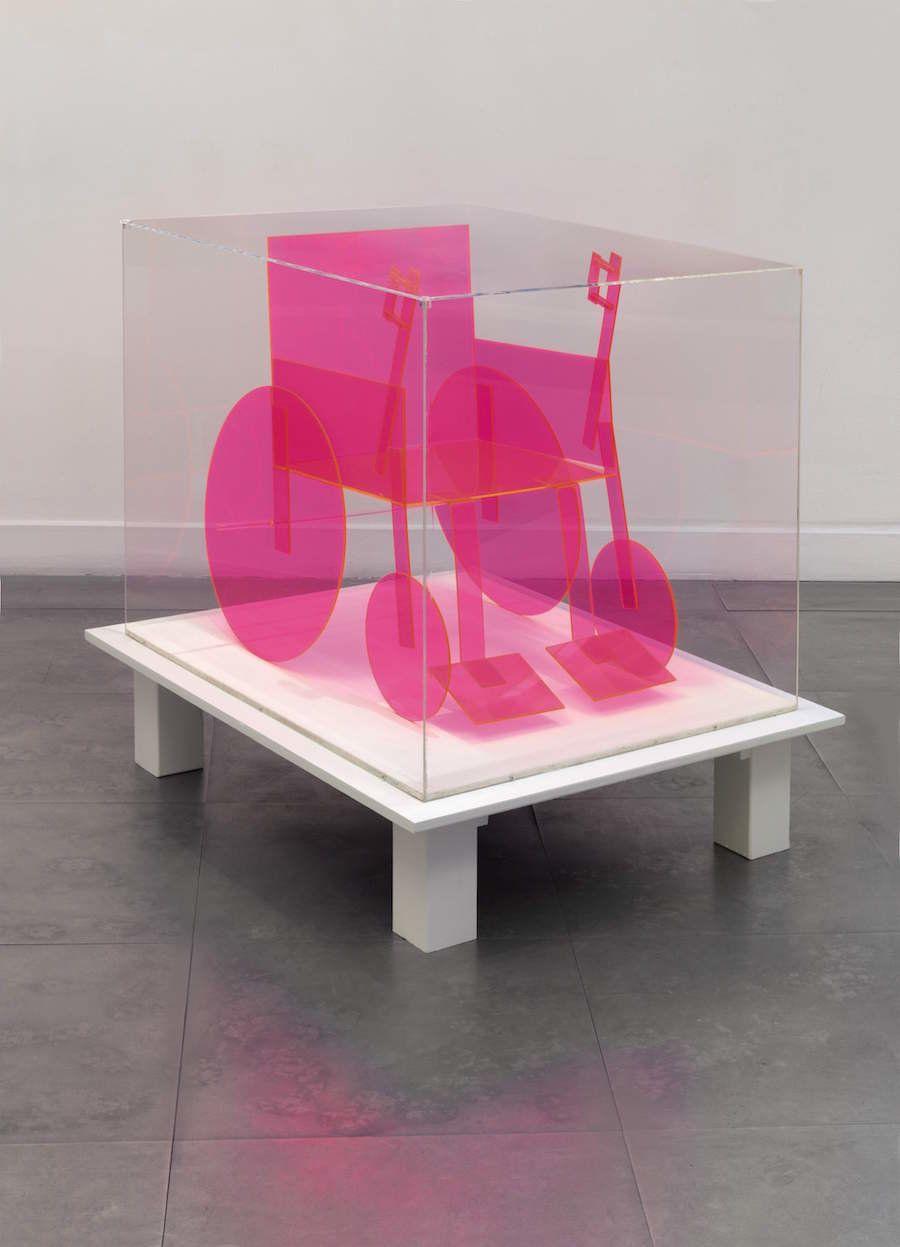 """Renate Bertlmann, """"Rollstuhl (Rot-Gross) (Wheelchair (Red-Big)),"""" 1975"""