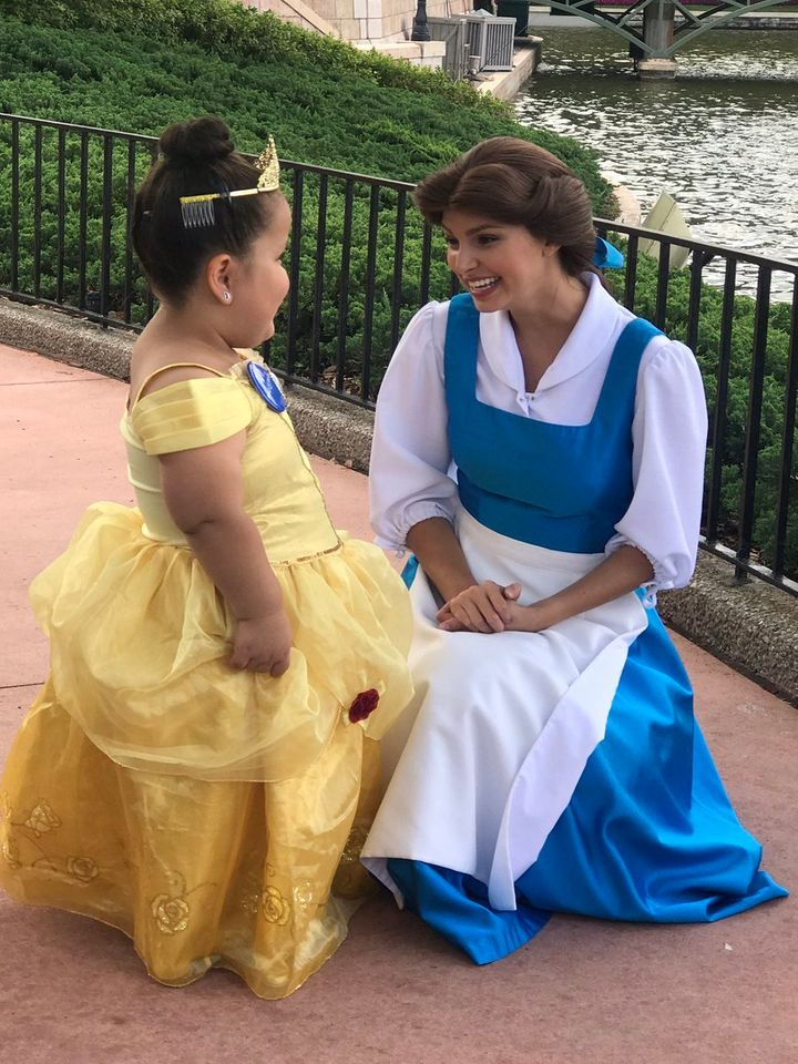 Seven-year-old Daisy Perez's wish came true when she got to meet Belle at Disney World.