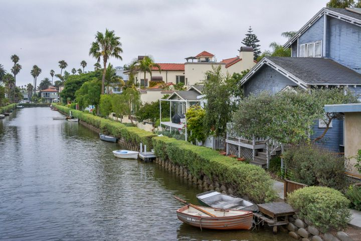 The Venice Canal Historic District in Los Angeles, CA