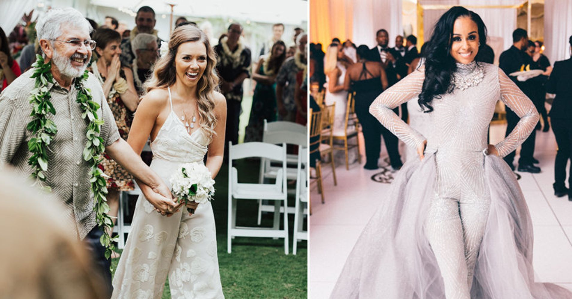 16 Fierce Wedding Jumpsuits For Brides Who Don't Do