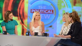 THE VIEW - Today's guest include actor Jussie Smollett and Conservative Commentator Tomi Lahren on ABC's 'The View.'   'The View' airs Monday-Friday (11:00 am-12:00 pm, ET) on the ABC Television Network.     (Photo by Lorenzo Bevilaqua/ABC via Getty Images)  PAULA FARIS, TOMI LAHREN, SARA HAINES, JEDEDIAH BILA