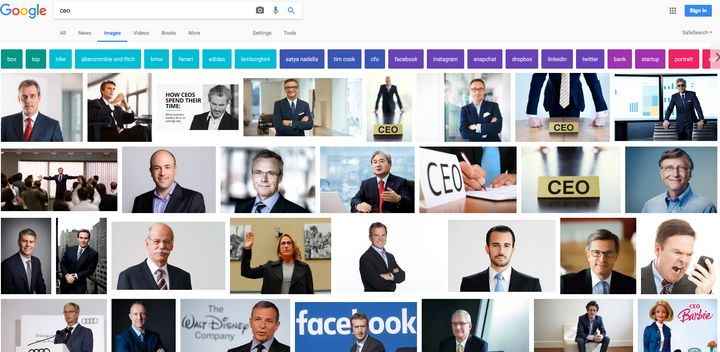"""This is what you get when you search for """"CEO"""" in Google images."""