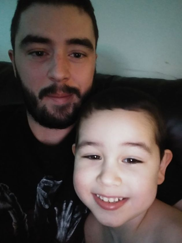 Matthew Clark with his 3-year-old,