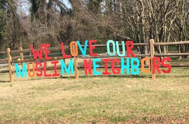 Sign in front of The Grove Presbyterian Church, Charlotte, NC