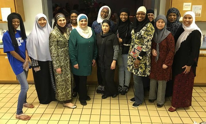 The Muslim community, representing Muslims from around the world, was eager to cook and serve food for the church in apprecia