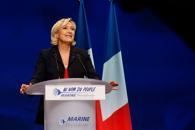 Marine Le Pen, French National Front political party leader and candidate for the French 2017 presidential