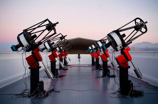 The MEarth-South telescope array in Chile, which discovered the super-Earth LHS