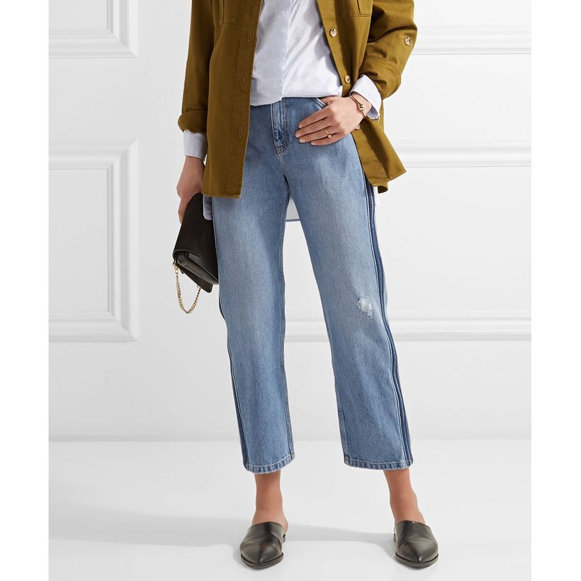 """<a rel=""""nofollow"""" href=""""http://rstyle.me/~9TfwC"""" target=""""_blank"""">M.i.h Jeans Jeanne Cropped Striped Straight-Leg Jeans, $325<"""