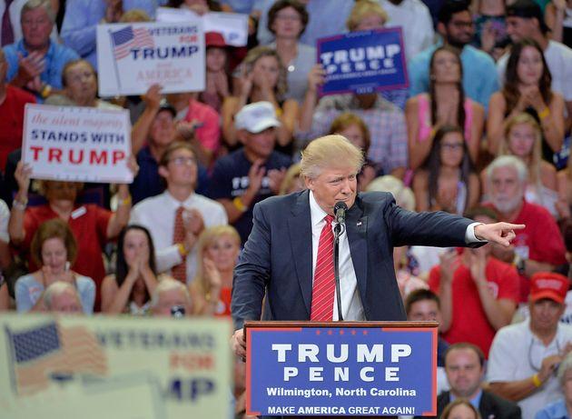 Donald Trump rallies his own