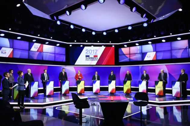 The attacks took place as the eleven French presidential election candidates took part in a special...