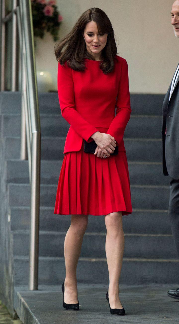 InAlexander McQueen, in London, England on 15 December 2015.