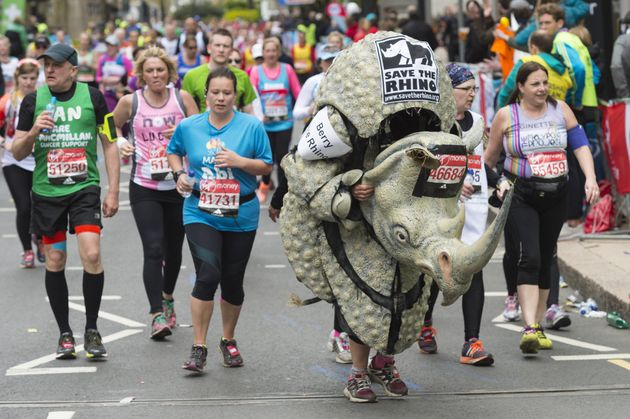Some people choose to run in lycra - others choose more unusual