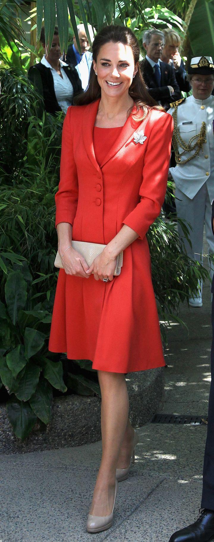 In Catherine Walker, in Calgary, Canada on 8 July 2011.