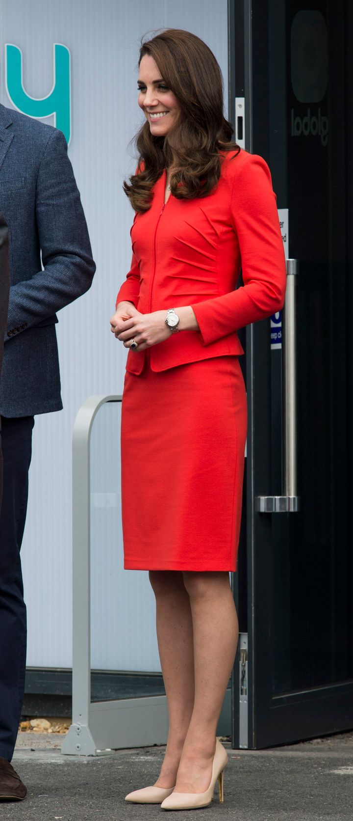 In an Armani suit, England, on 20 April2017.