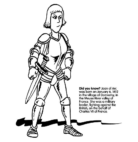 "Print for free at <a href=""http://www.crayola.com/free-coloring-pages/print/joan-of-arc-coloring-page/"" target=""_blank"">Crayo"