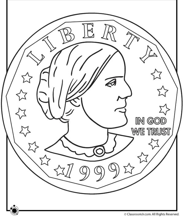 us coin coloring pages - photo#41