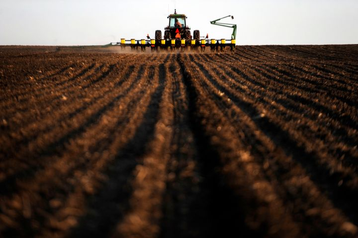 An Iowa farmer prepares for an evening planting of corn. Columnist Art Cullen has been pushing back against the state's agrib