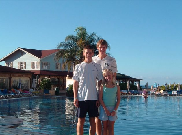 Luke, pictured here with younger brother Ryan and sister Charlotte, has written a heartfelt open letter...