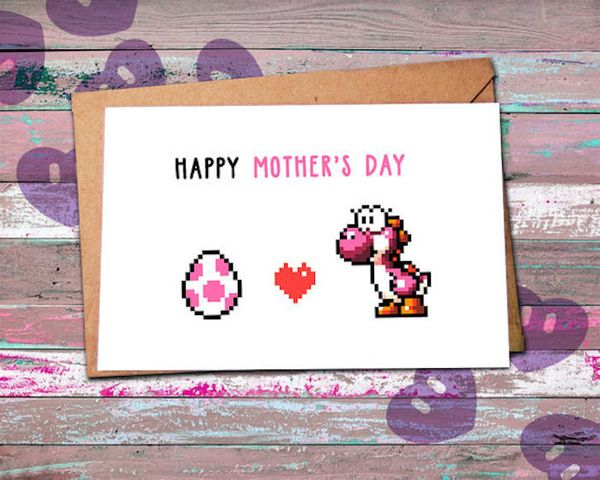 """$4.72, Player #2. <a href=""""https://www.etsy.com/listing/272143752/mothers-day-card-funny-nerdy-mothers-day"""" target=""""_blank"""">B"""
