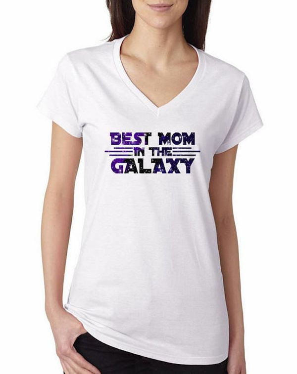 """$9.99, Xpress Tee. <a href=""""https://www.etsy.com/listing/508309616/best-mom-in-the-galaxy-happy-mothers-day"""" target=""""_blank"""">"""