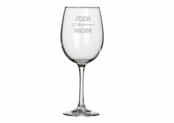 "$12, Glass Cannons. <a href=""https://www.etsy.com/listing/493995681/jedi-mom-wine-pint-or-rocks-glass"" target=""_blank"">Buy he"
