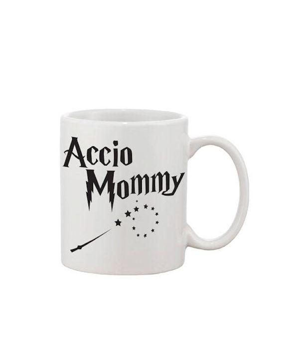 "$14.95, LVLYxxx. <a href=""https://www.etsy.com/listing/273541986/mug-harry-potter-accio-mommy-fun-mug"" target=""_blank"">Buy he"