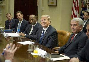 President Donald Trump met with representatives from PhRMA, despite previously saying drug companies 'were getting away with